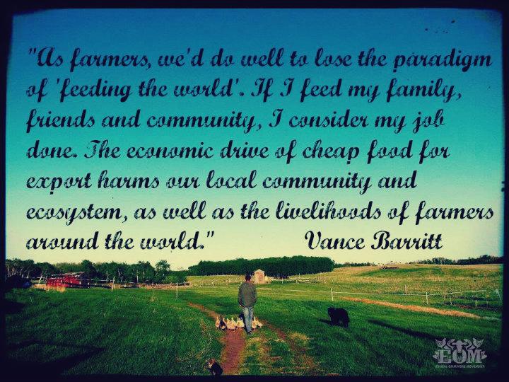 Quote: Vance Barritt of earthworksfarm.ca
