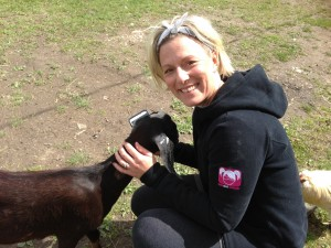 Auntie Tammy plotting to steal loving goat
