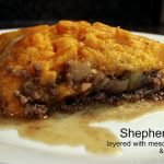 Primal Shepherd's Pie - layered with mesquite apples & mushrooms