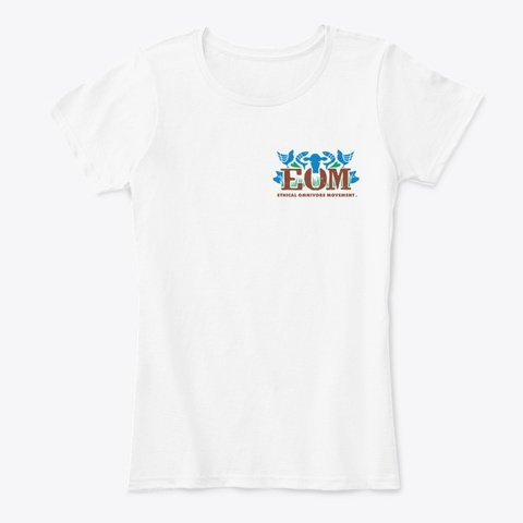 EOM women's t-shirt in white