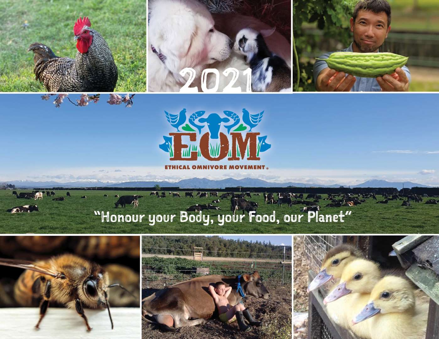 Ethical Omnivore Movement Calendar 2021 - Cover 2021